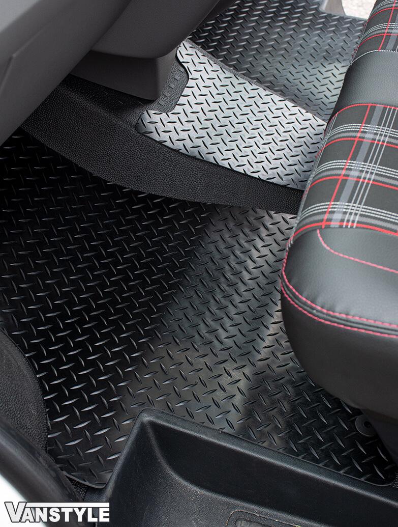 Black Rubber RHD Front Cab Mats - Heavy Duty - VW T6.1 2019>