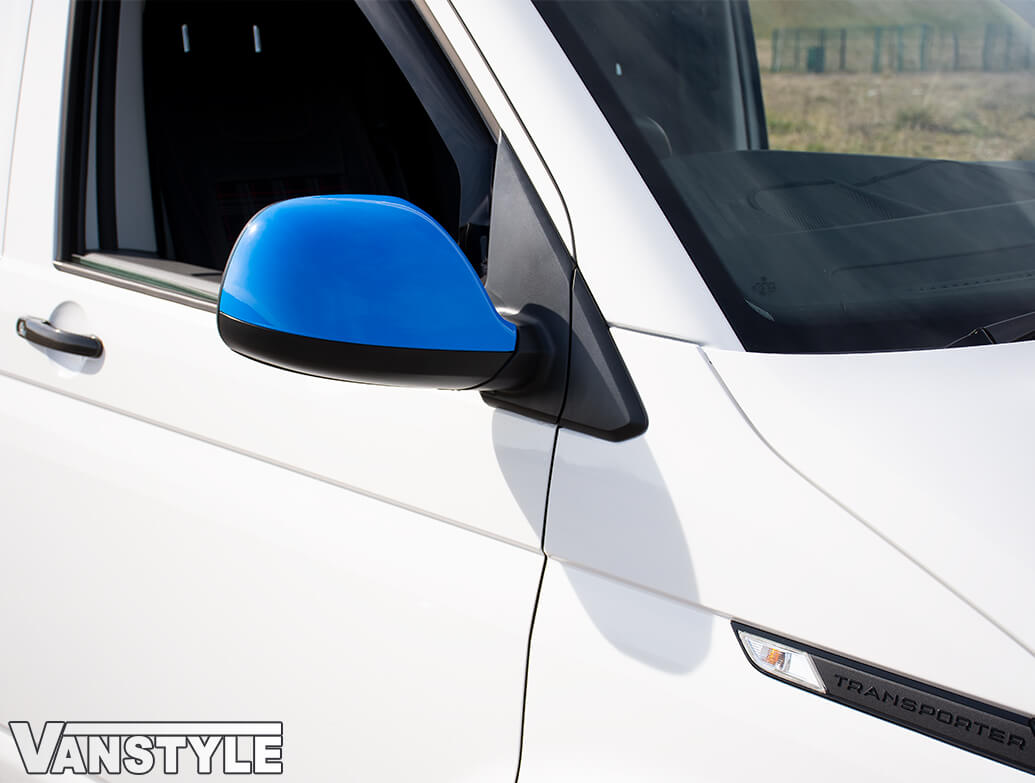 Upper Wing Mirror Replacement Cover Pair - Blue Ed. - VW T5 T6