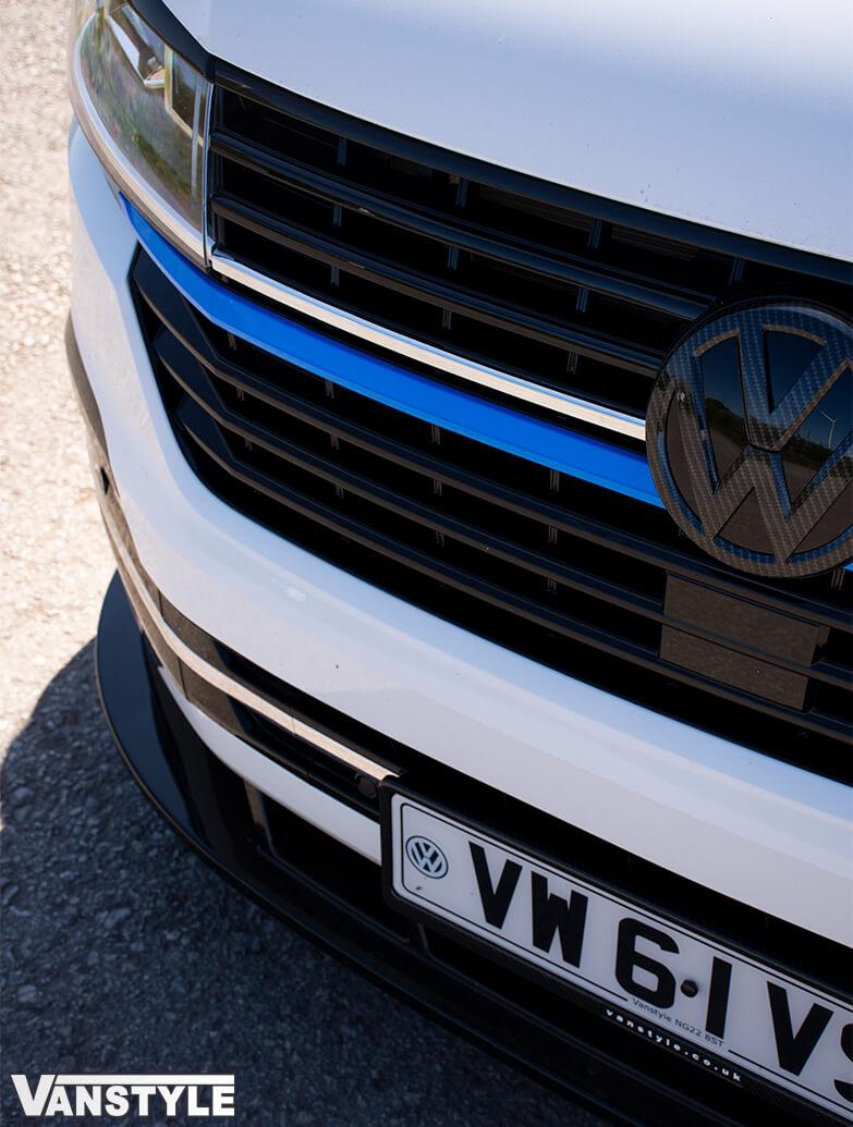 Front Radiator Grille 2pcs Lower Trims - Blue Ed. - VW T6.1