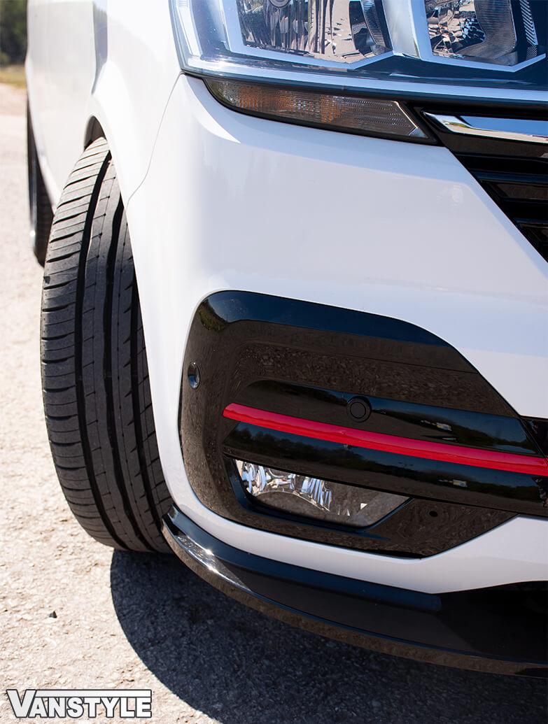 Lower Front Bumper Grille 5pcs Trims - Red Ed. - VW T6.1