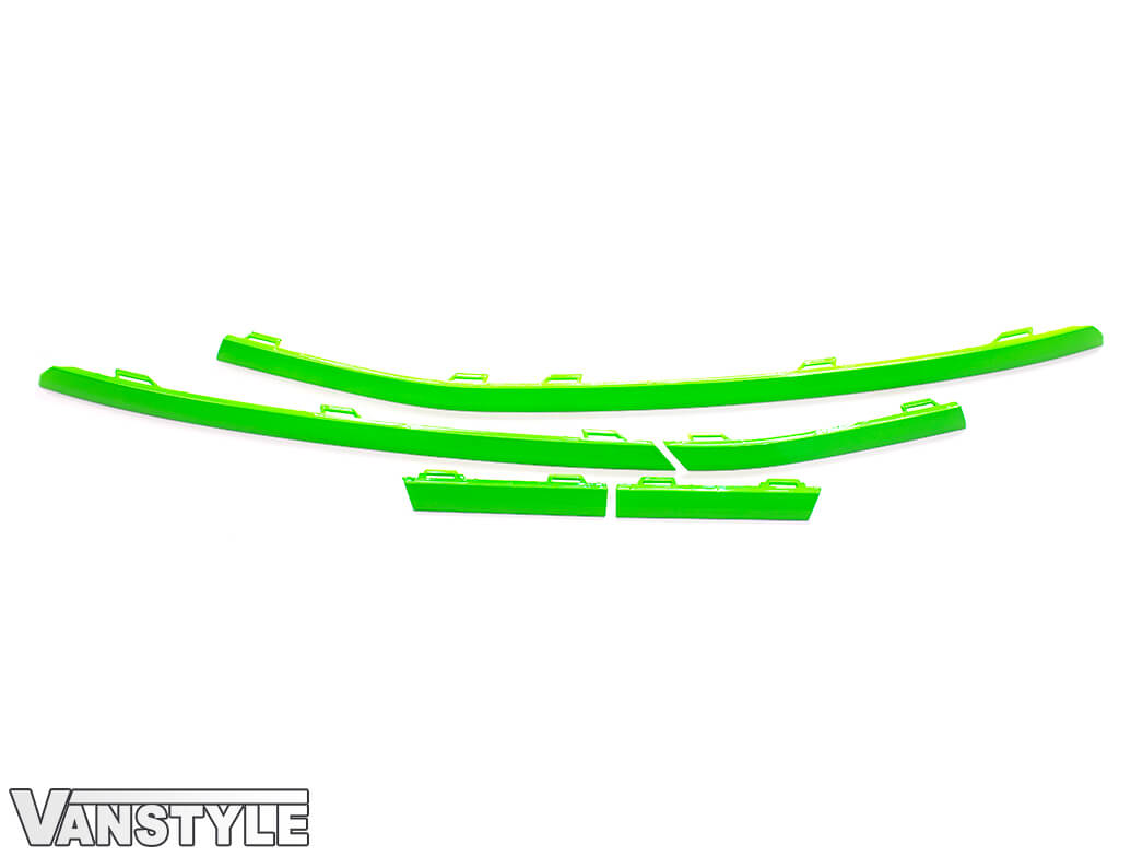 Lower Front Bumper Grille 5pcs Trims - Green Ed. - VW T6.1