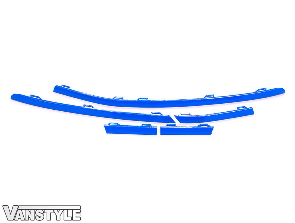 Lower Front Bumper Grille 5pcs Trims - Blue Ed. - VW T6.1
