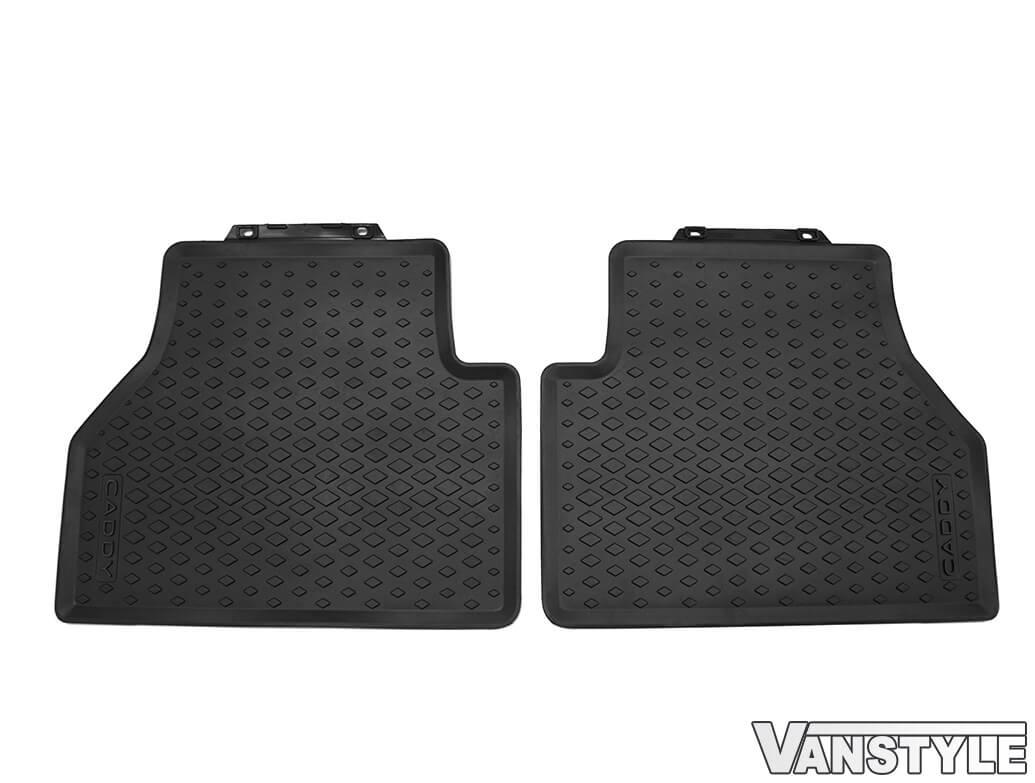 Genuine VW OE 4PC Front & Rear Rubber Mats - VW Caddy MK5 2021>