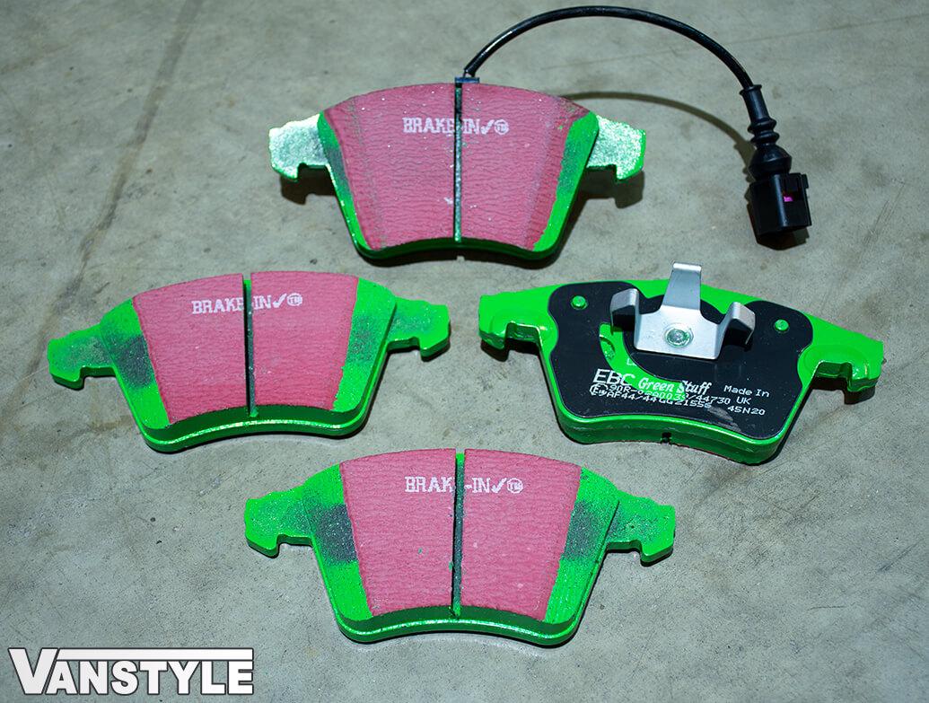 EBC GreenStuff Brake Pads - 308/333mm & 314mm Discs - VW T5 T6