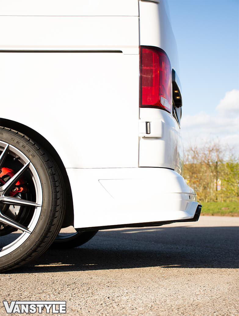 ABT Rear Bumper w/ Dummy Quad Exhausts - Twin Door - VW T6.1 19>