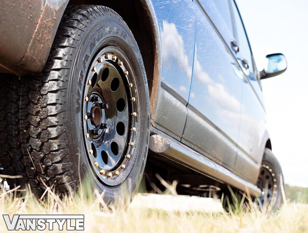Tuff Torque Imitation Beadlock 17x8 Black Steel Wheel Tyre T5 T6