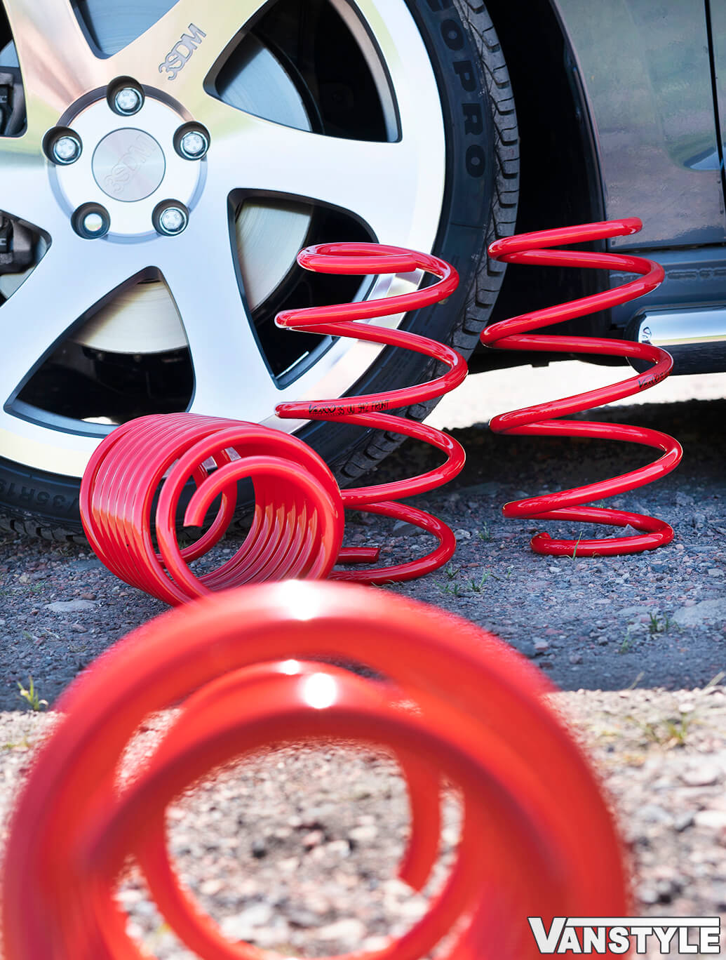 Vmaxx Lowering Springs Front 40mm Rear 60mm - Caddy Mk5 21>