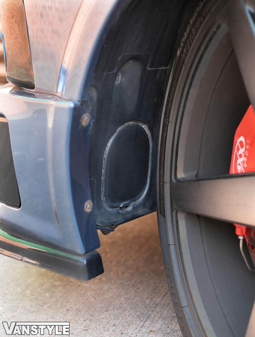 Genuine VW Wheel Arch Fog Light Access Flap -T6/Caddy/Crafter