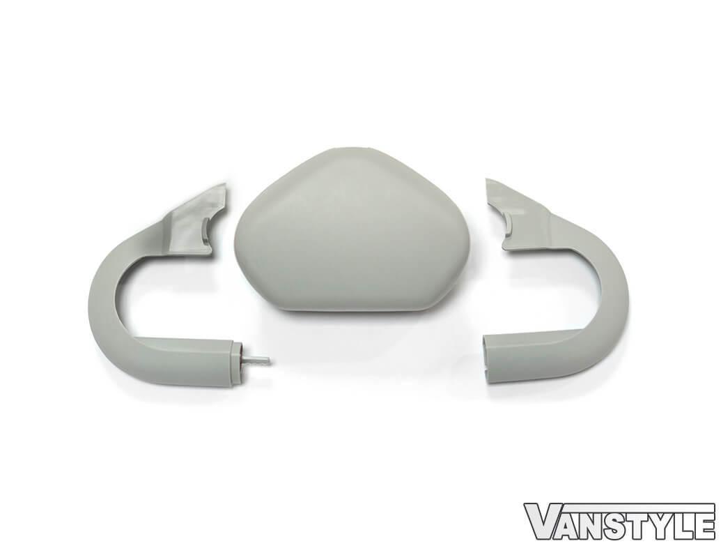 Genuine VW Pearl Grey Seat Belt Cap Cover 3pc - VW T5/T6