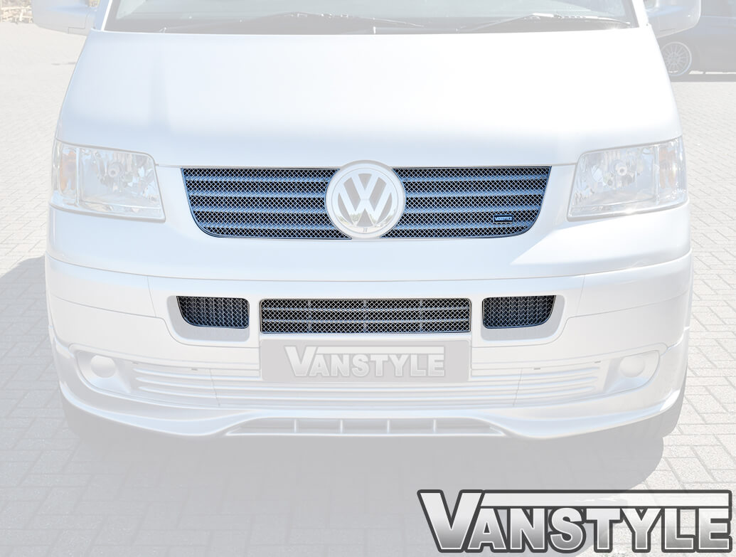 Zunsport Stainless Steel Complete Grille Set, VW T5 03-09