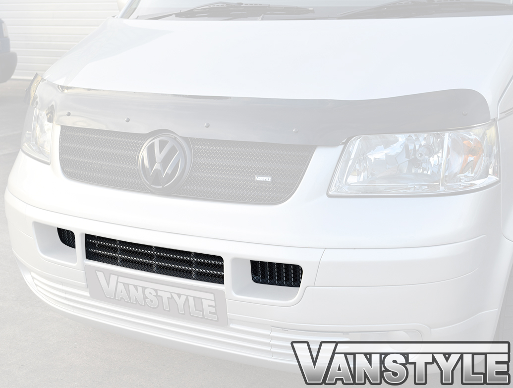 VW T5 CALIFORNIA 2003-09 ZUNSPORT SILVER S.STEEL LOWER FRONT MESH GRILLE TRIM