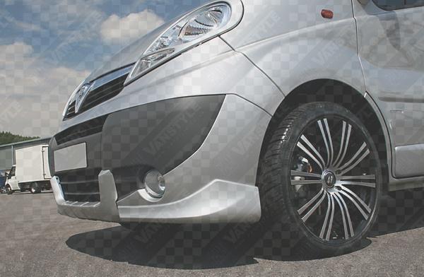Xp Front Spoiler Corners Vivaro Trafic 2007 Primed