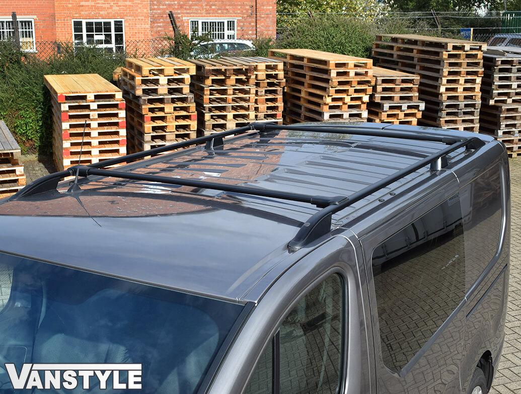 Aluminium Black Roof + Cross Bar Set Vivaro 14>19 / Trafic 14>