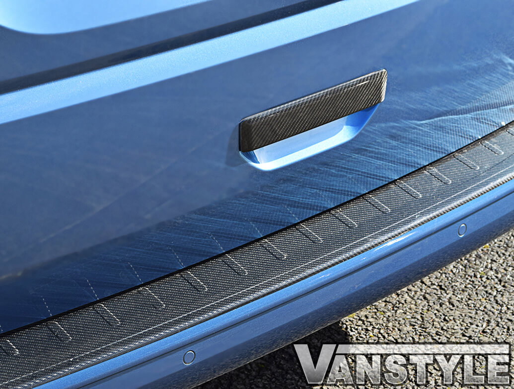 VW T6 Tailgate 15>19 Carbon Fibre Grab Handle + Bumper Protector