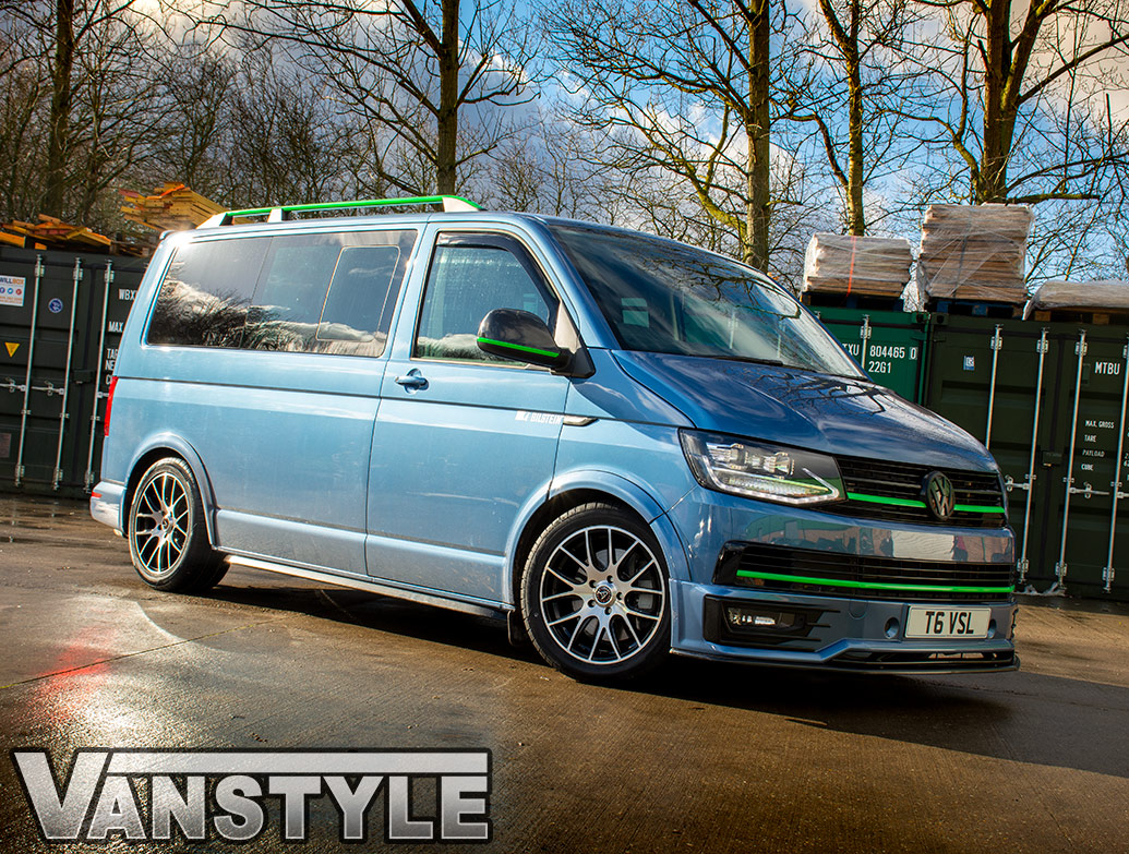 Wolfrace Munich 18in Black & Polished - VW T5/T6 Alloy Wheels