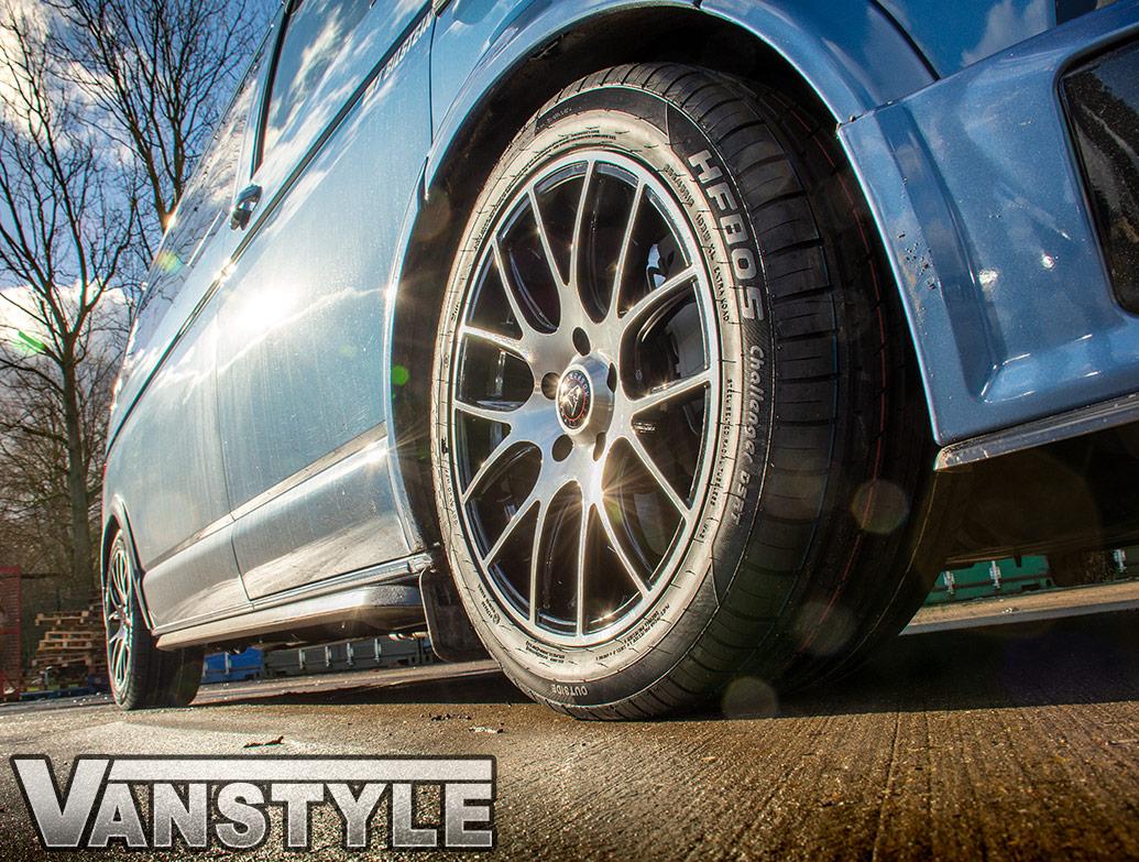 Wolfrace Munich 18in 8.5J Black Polished - VW T5/T6 Wheel & Tyre