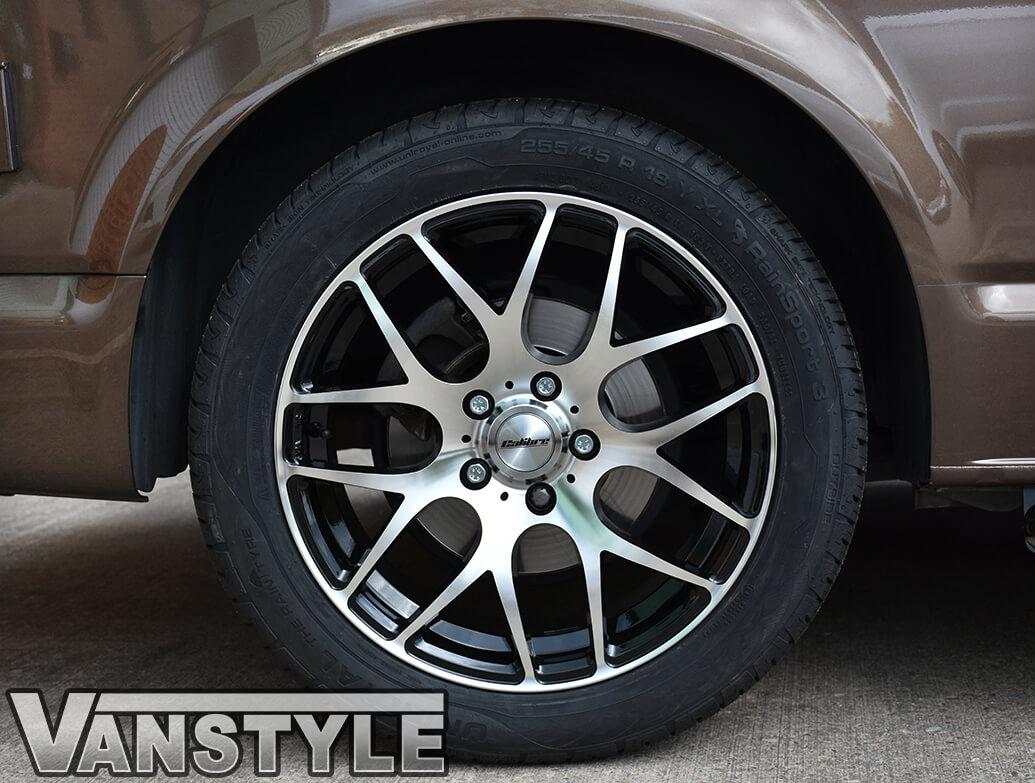 "Calibre Exile-R Black & Polished 18\"" VW T5 T6 Wheels & Tyres"