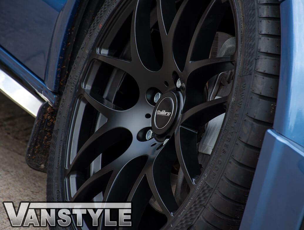 """Calibre Exile-R Matte Black 20\"""" Alloy Wheel & Tyre - VW T5 T6"""