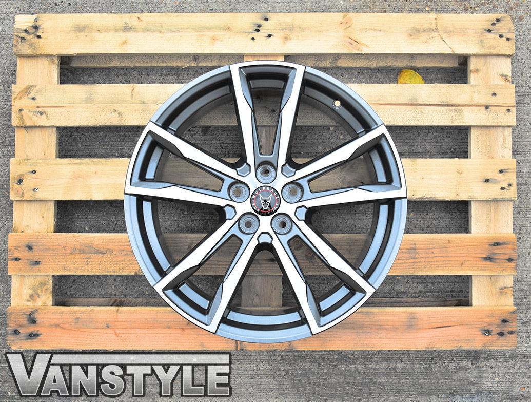 "Wolfrace Dortmund Gun Metal & Polished 20\"" T5 T6 Wheels & Tyres"