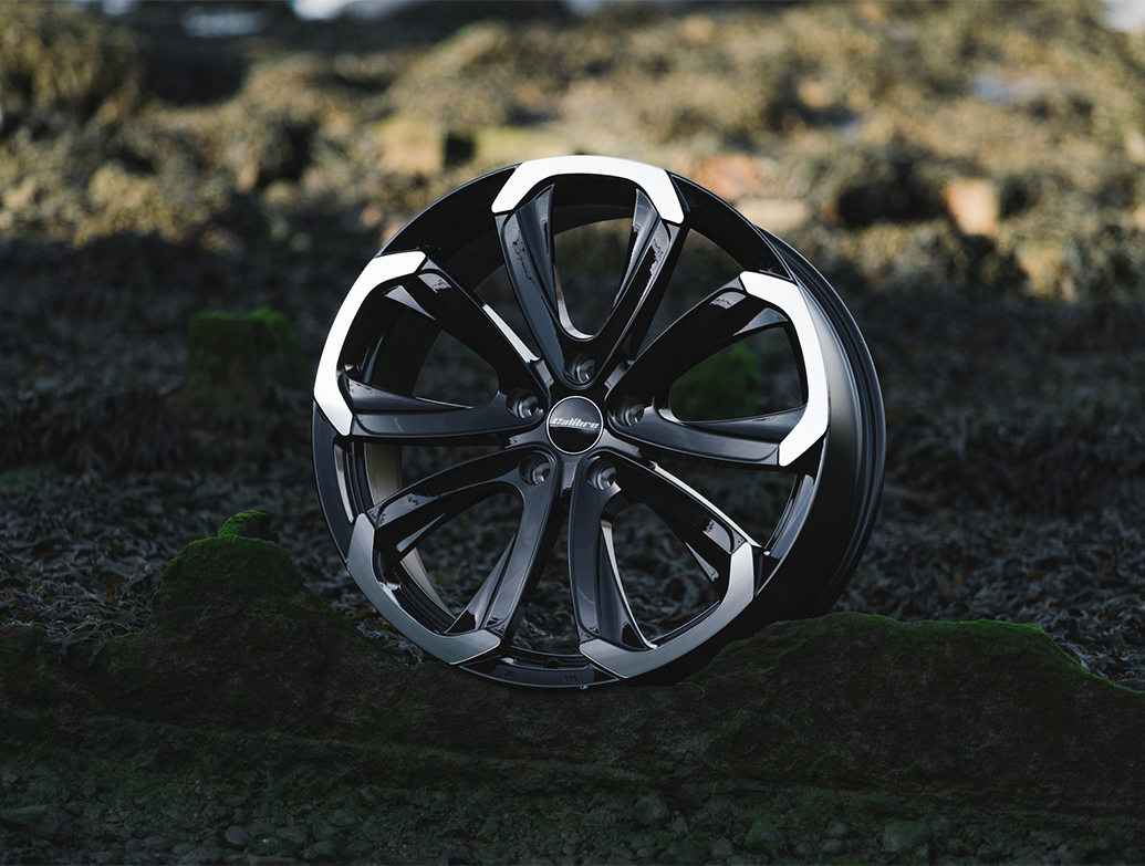 "Calibre Havana Black & Polished 20"" VW T5 T6 Alloy Wheels"