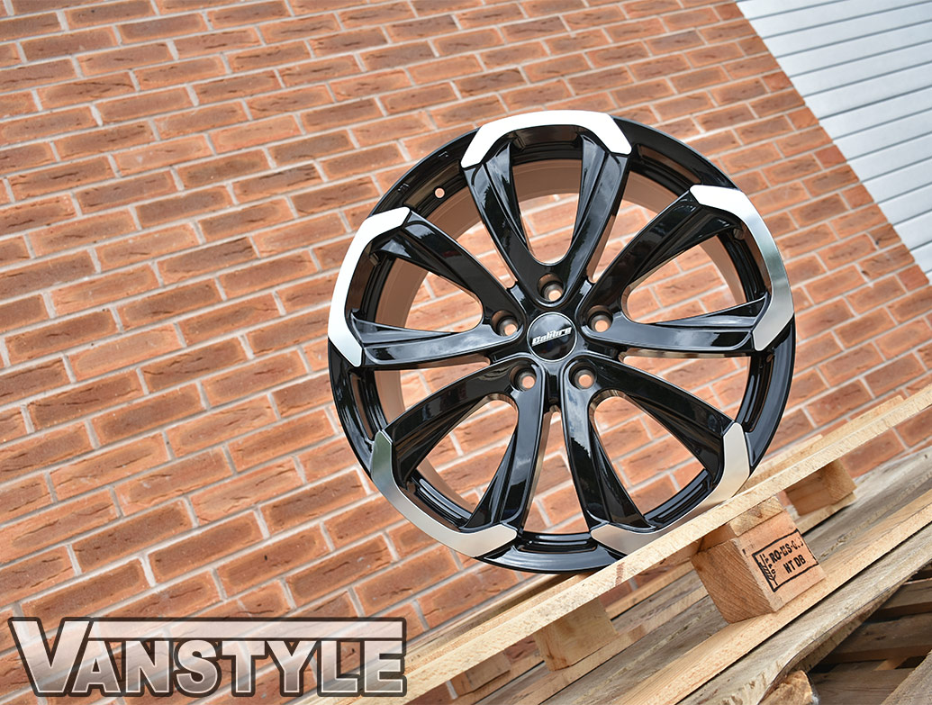 "Calibre Havana Black & Polished 18"" VW T5 T6 Alloy Wheels"