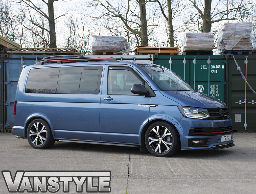 "Techline Matte Black/Polished 18\"" VW T5 & T6 Wheels & Tyres"