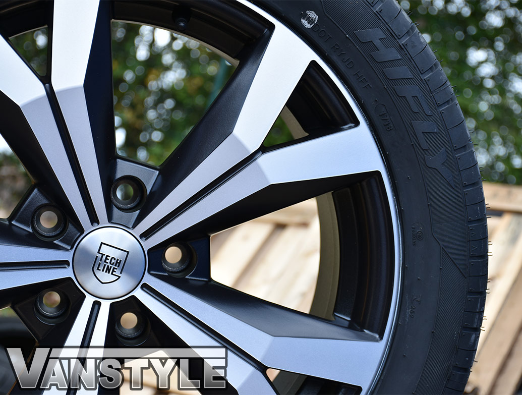 "Techline Gloss Matte/Polished 18"" VW T5 & T6 Wheels & Tyres"