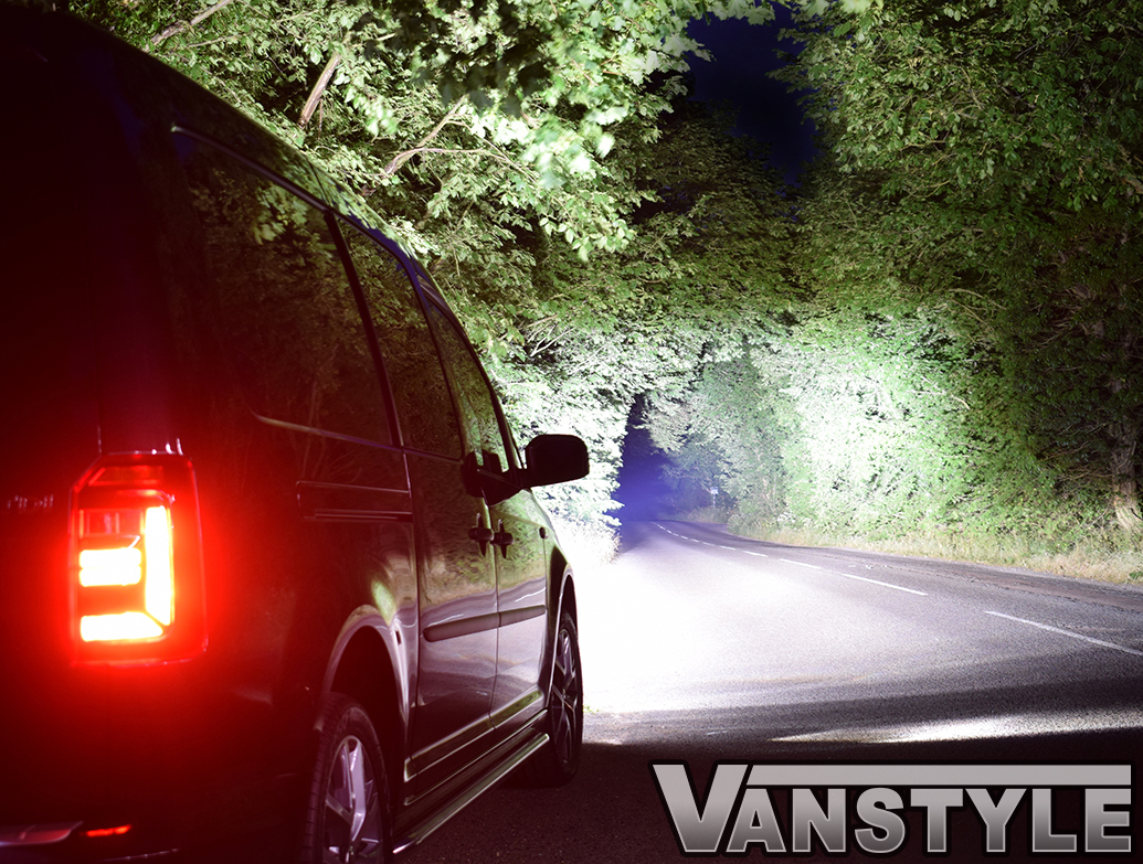 Lazer Linear-6 LED Spot Light Twin Grille Kit - VW Caddy 15>