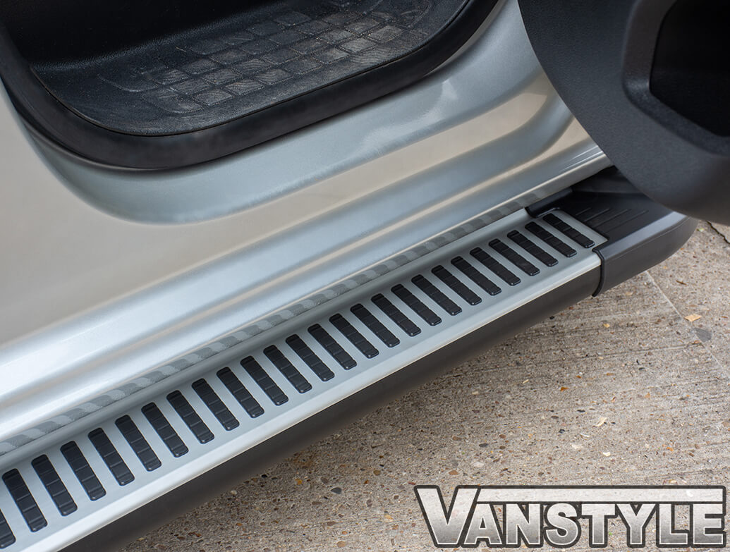 Sherwood Style Aluminium Side Steps - Vauxhall Vivaro 2019>