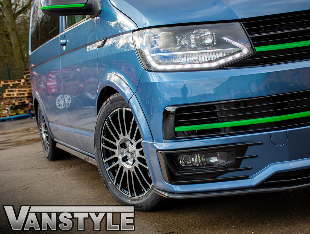 AEZ Strike 18in 8J Black & Polished - VW T5 T6 Wheel & Tyre