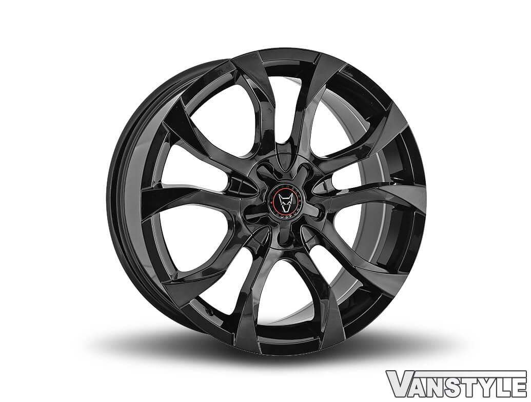 "Wolfrace Assassin 18\"" Gloss Black Alloy Wheels & Tyres"