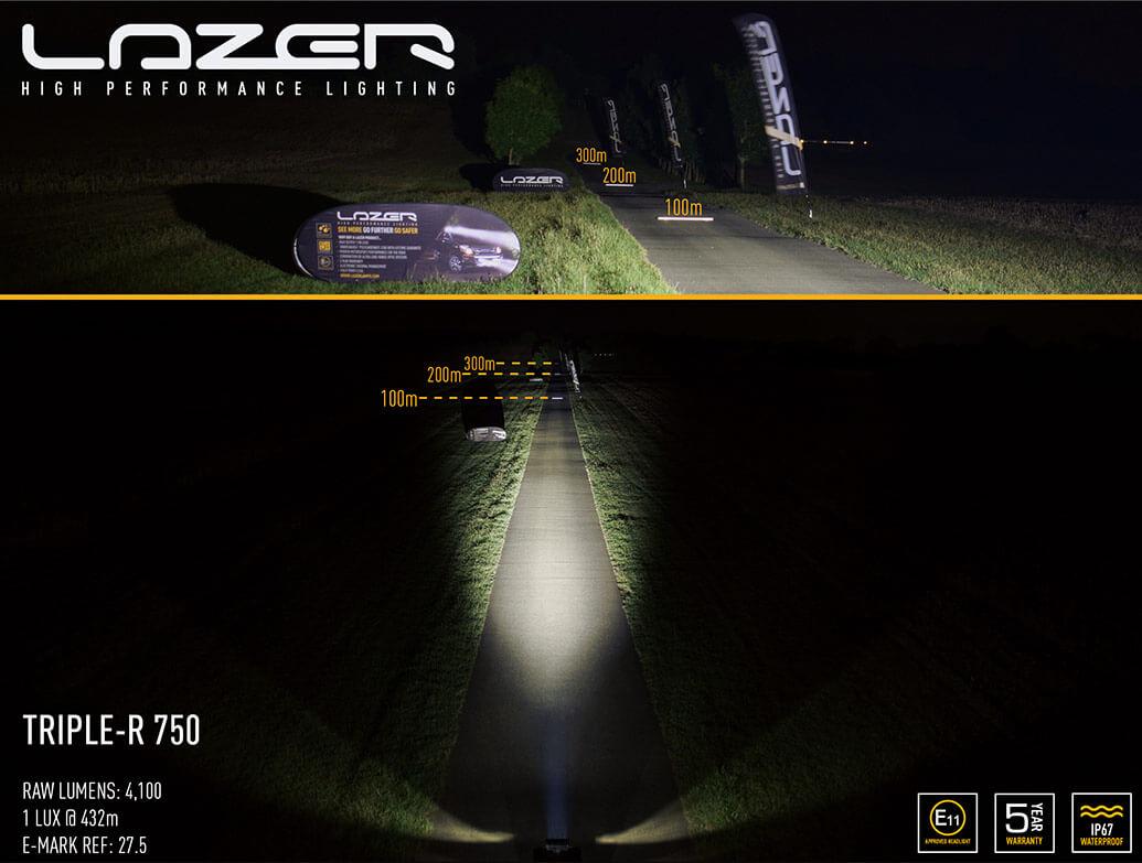Lazer Triple-R 750 LED Spot Light Twin Kit - VW T5 10>15
