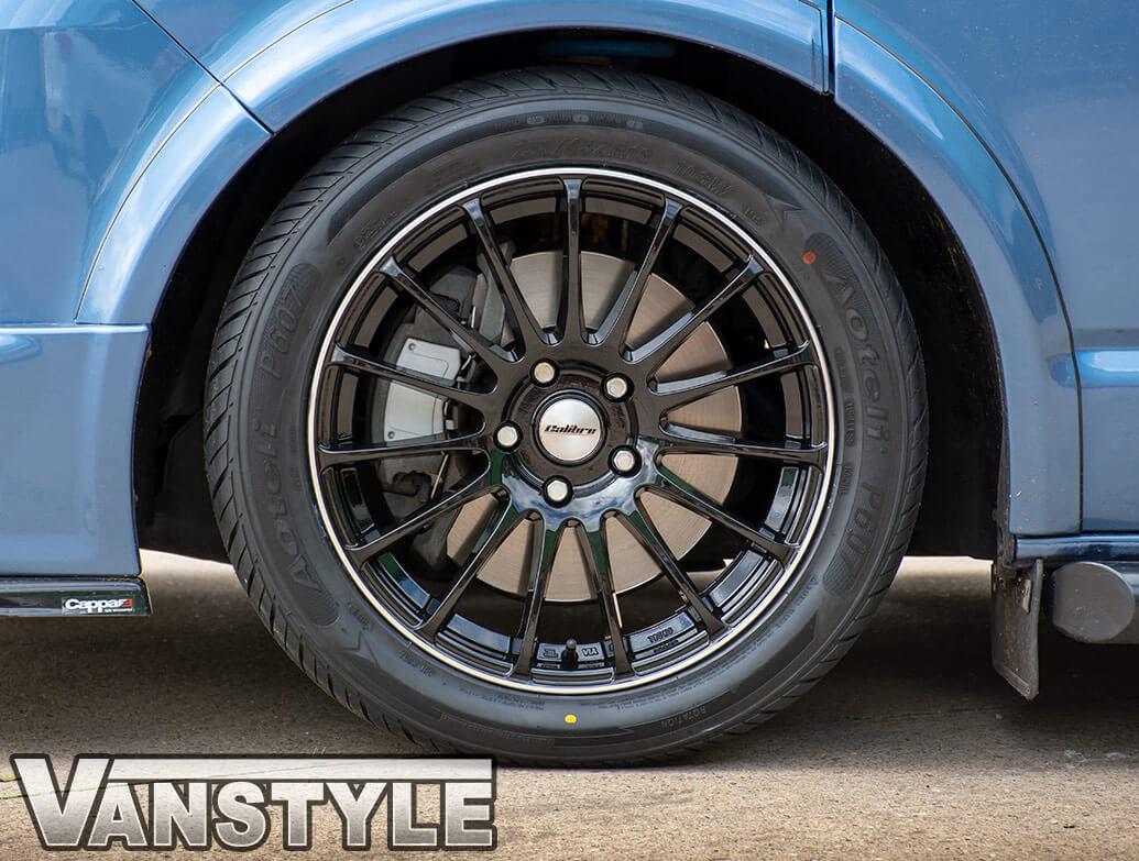 "Calibre DRC Rapide Gloss Black 18\"" - VW T5 T6 03-15 Alloy Wheels"