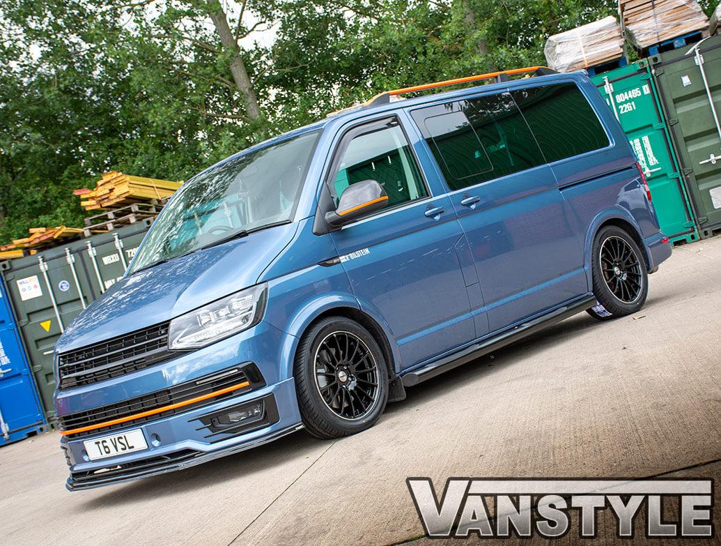 """Calibre DRC Rapide Gloss Black 18\"""" - VW T5 T6 Wheel & Tyre Set"""