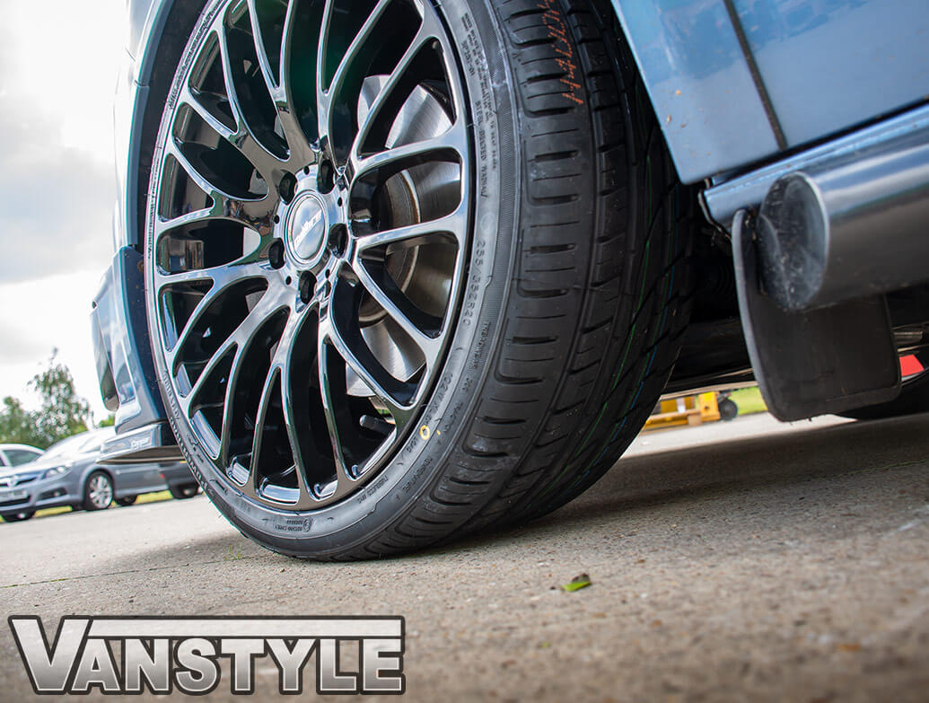 "Calibre Altus Gloss Black 9J 20"" Wheel & Tyre Set - VW T5 T6 03>"