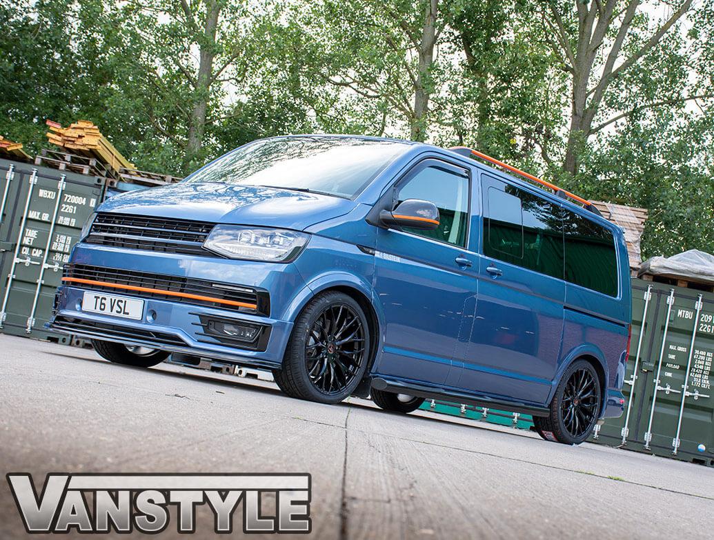 """Wolfrace Wolfsburg Gloss Black 20\"""" Wheel & Tyre - VW T5 T6 03>"""