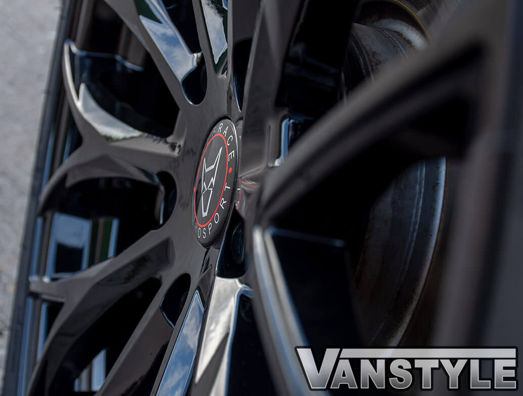 "Wolfrace Wolfsburg Gloss Black 20"" Wheel Set - VW T5 T6 03>"