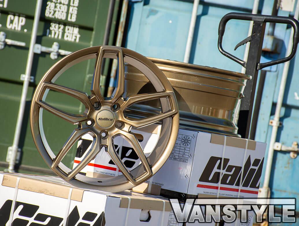 Calibre CC-U 20in 9J Gloss Bronze - VW T5 T6 Wheel & Tyre Set