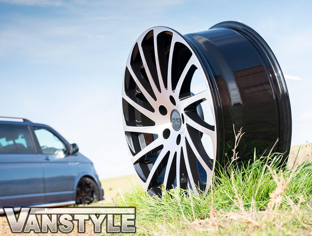 """Velare VLR11 20\"""" Black Polished Load Rated Alloy Wheels - T5 T6"""