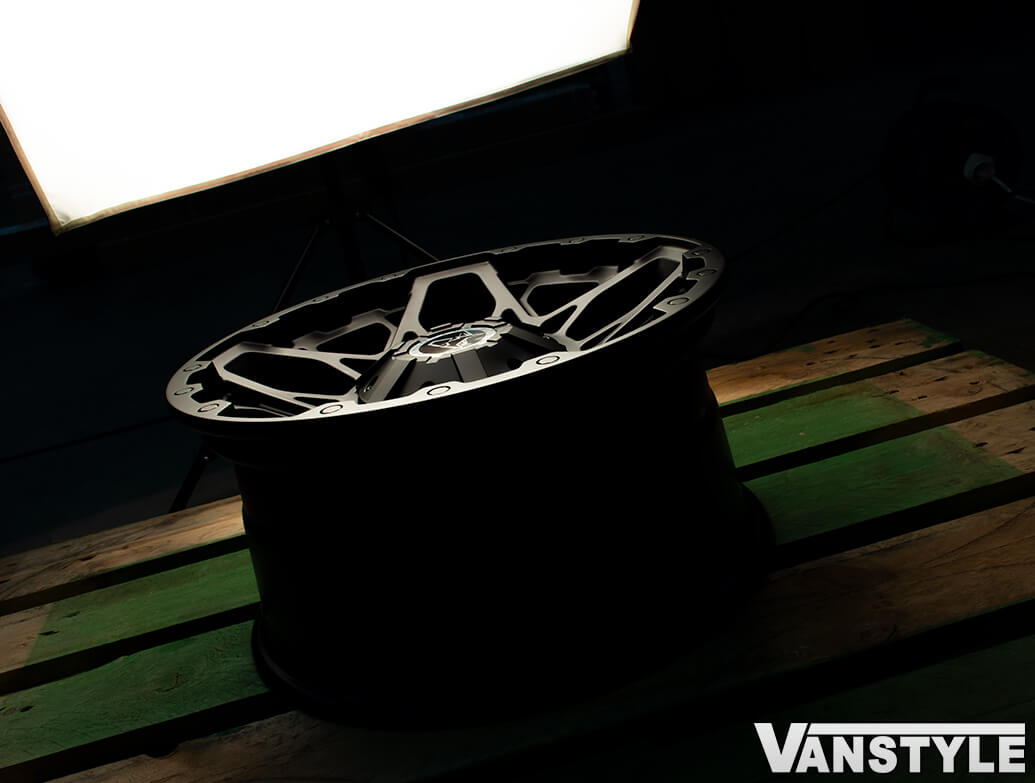 "Wolfrace Explorer Sahara Matte Black 17\"" Alloy Wheels - VW T5 T6"