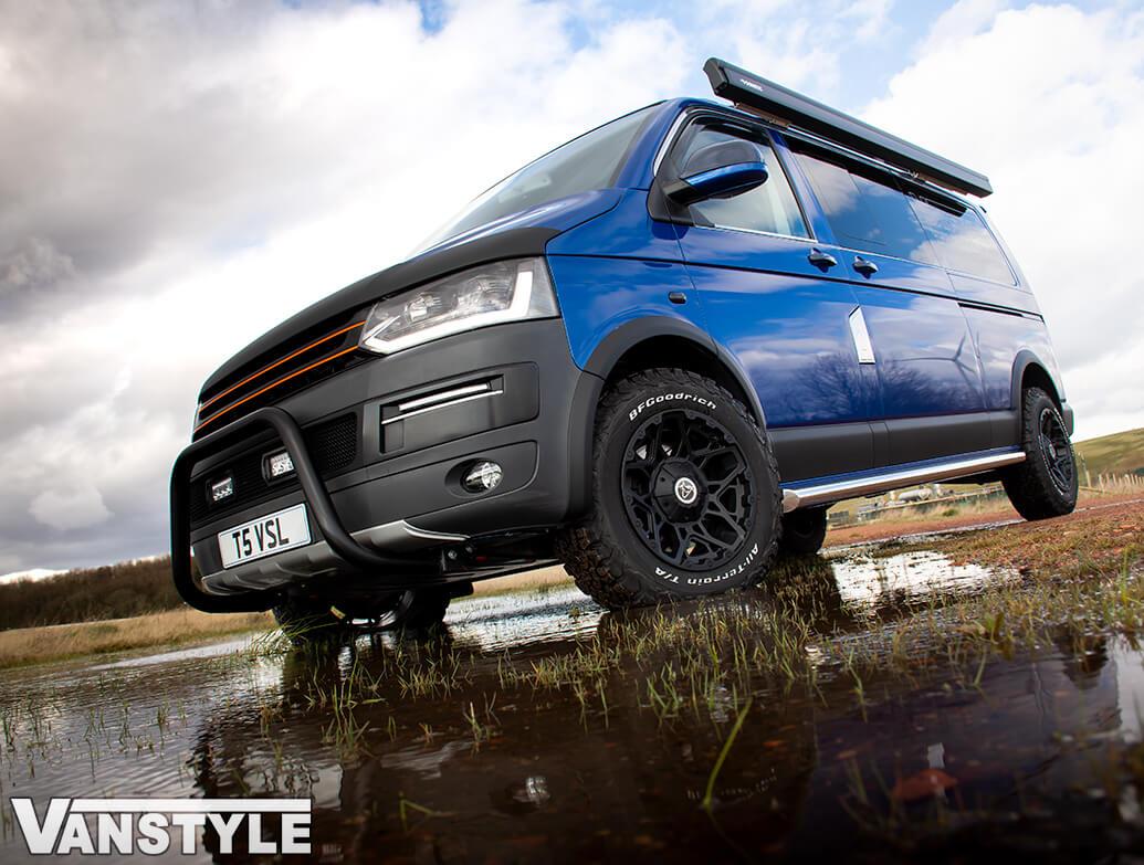 "Wolfrace Explorer Sahara Matte Black 17\"" Wheel & Tyre - VW T5 T6"