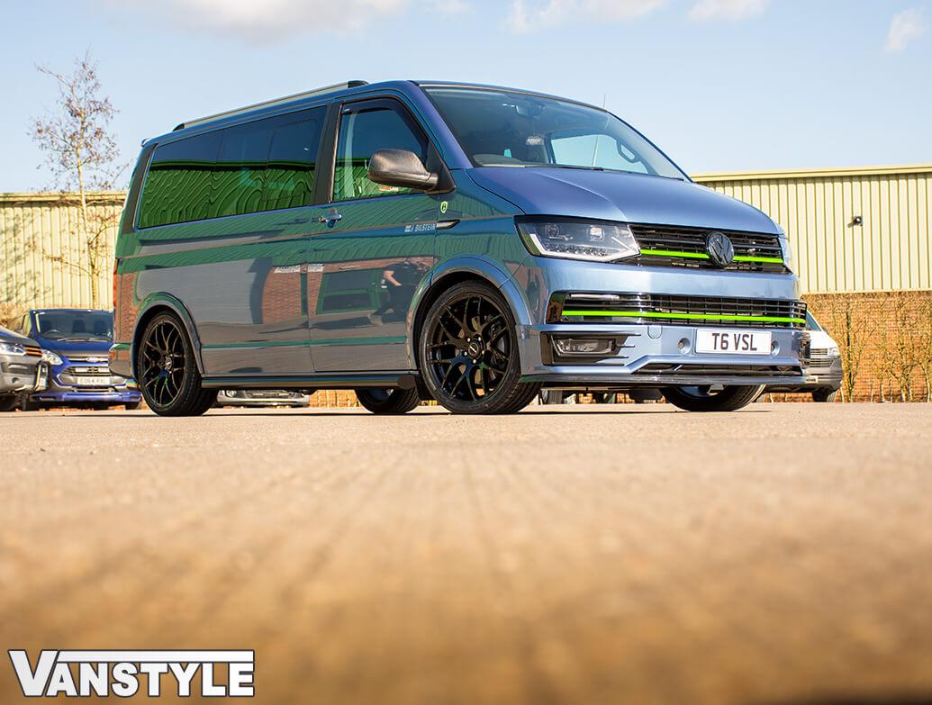 "Calibre Exile-R Gloss Black 20\"" Wheel & Tyre Set of 4 - VW T5 T6"