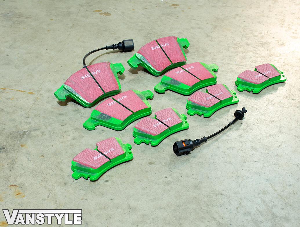 EBC GreenStuff Brake Pads - 308/333mm & 294mm Discs - VW T5 T6