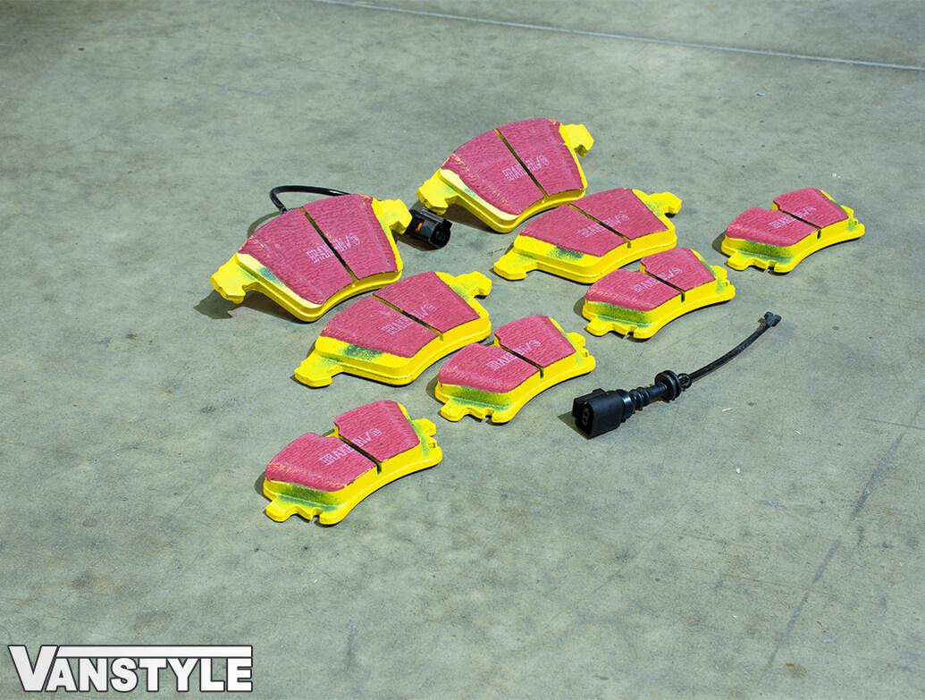 EBC YellowStuff Brake Pads - 308/333mm & 294mm Discs - VW T5 T6