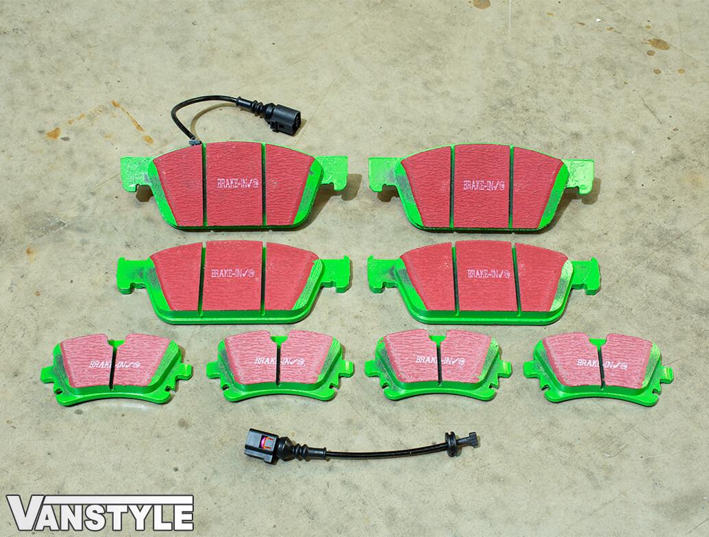 EBC GreenStuff Brake Pads - 340mm & 294mm Discs - VW T5 T6