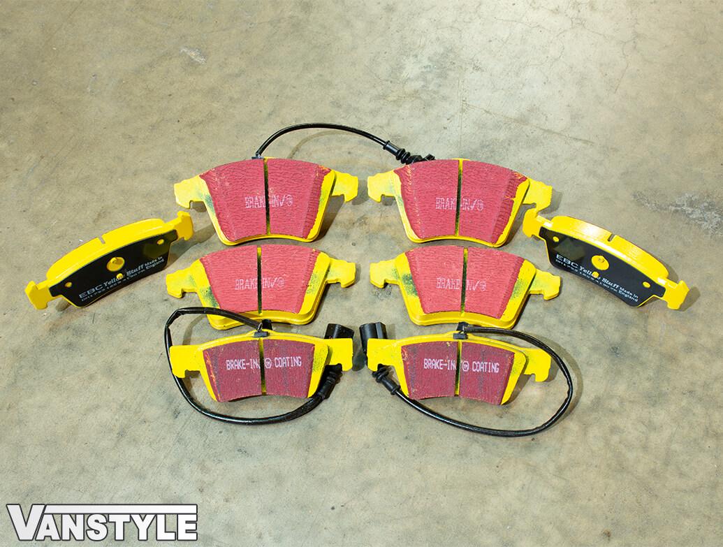 EBC YellowStuff Brake Pads - 308/333mm & 314mm Discs - VW T5 T6