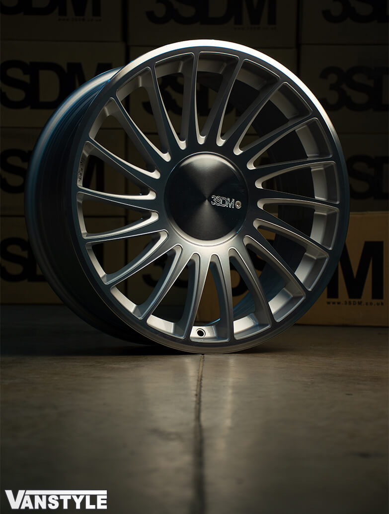 "3SDM 0.04 Silver Cut - 19"" Alloy Wheels - VW Caddy 04>"