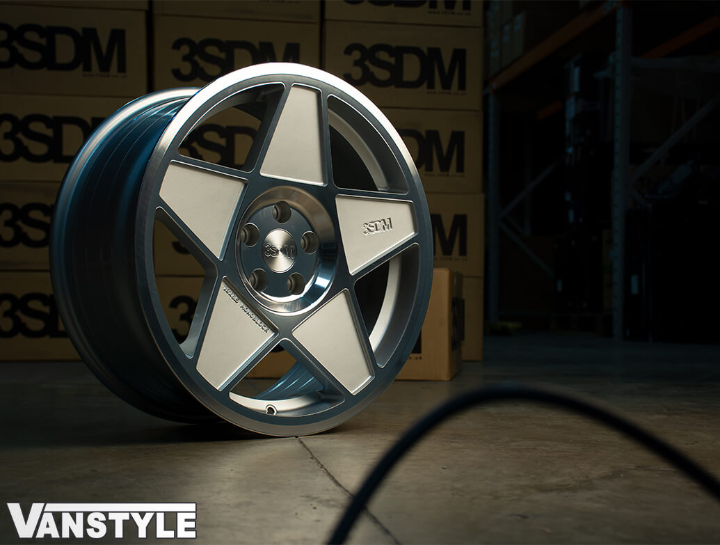 """3SDM 0.05 Silver Cut - 19\"""" Alloy Wheels - VW Caddy 04>"""