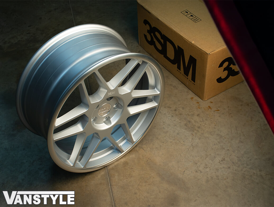 "3SDM 0.09 Matte Silver - 19"" Alloy Wheels - VW Caddy 04>"