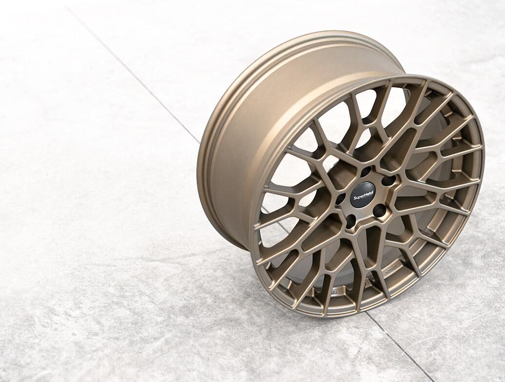 SuperMetal Cell 20x9J 5x120 Matte Bronze Alloy Wheels - T5 T6